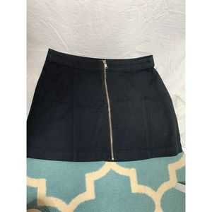H&M black zipper mini skirt